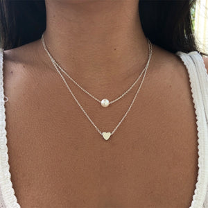 Double layer Clavicle chain necklace