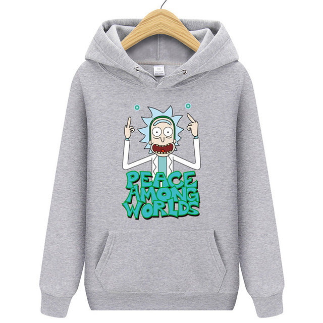 Casual Hoody Rick And Morty Print Men's Hoodies Sweatshirts  Cotton Tops