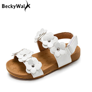 Leather Flowers Sandals