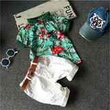 Summer style Children clothing sets Baby boys t shirts+shorts pants sports suit kids clothes