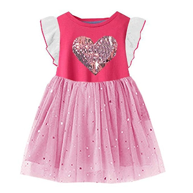 Tutu Dress for Girls Dresses Kids Unicorn Vestidos Girls Princess Dress Birthday Party Costumes Children Sequined Clothes