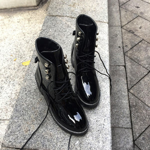 Japanned Leather Boots