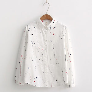 Graffiti Printed Long Sleeve Shirt