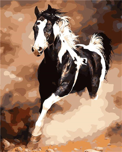 Abstract running Horse Oil Painting pictures By Numbers Digital Pictures Coloring by hand Unique Gift Home Decoration