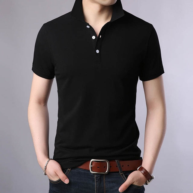 New Fashion Brands Polo Shirt for Men - 100% Cotton Slim Fit Short Sleeve