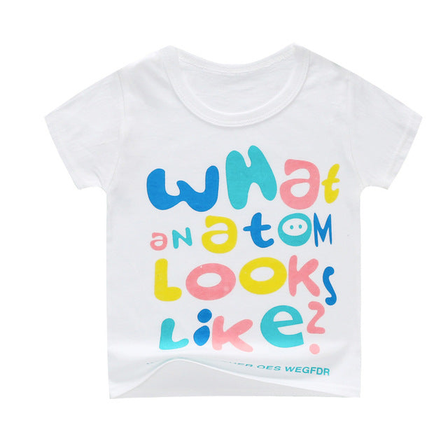 Girls T shirt Print Cartoon Kids Clothing New 2019 Summer Fashion Children Girl Short Sleeve Cotton T shirts For Boys & girls