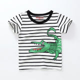 Kids T Shirt For Summer Children Cartoon Baby Dinosaur Car Infant Boys & Girls T-Shirts Clothes Cotton Toddler Tops 18M-8Y