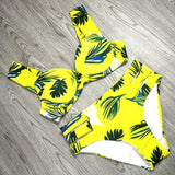 Sexy Bikinis Women Swimsuit 2019 Summer Cut Out Bathing Suits Push Up Bikini Print Swimwear Beach Wear With Underwire Biquini