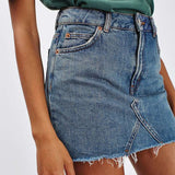 Casual High Waist Denim Jeans Skirt