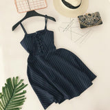 Classic Striped Sling Dress