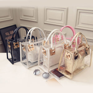 Clear PVC Jelly Small Tote Bag
