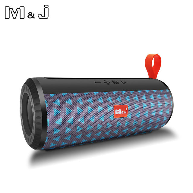 M&J Wireless Bluetooth portable Speaker Stereo Subwoofer column loudspeaker+TF Built-in Mic Bass FM USB MP3 Sound Boom Box