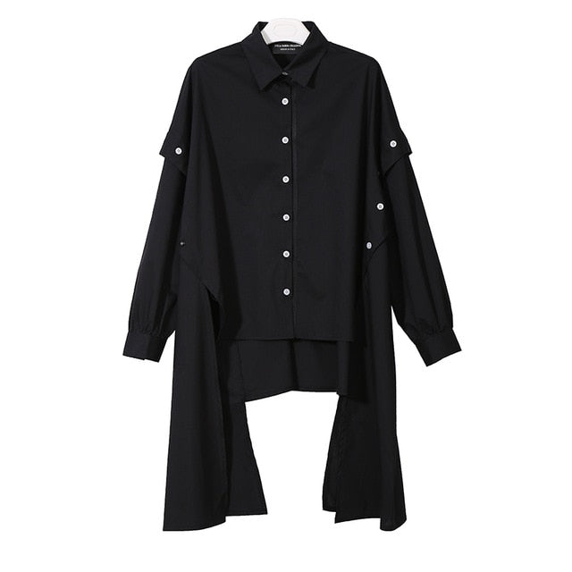 Black Long Sleeve Elegant Blouse