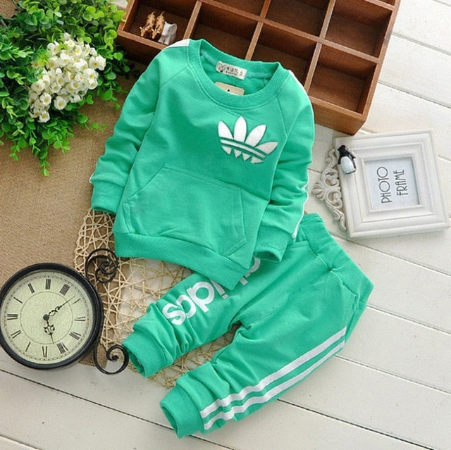 Brand Baby Boy Clothing Suits Autumn Casual Baby Girl Clothes Sets Spring Kids Set Children Suit Sweatshirts+Sports pants