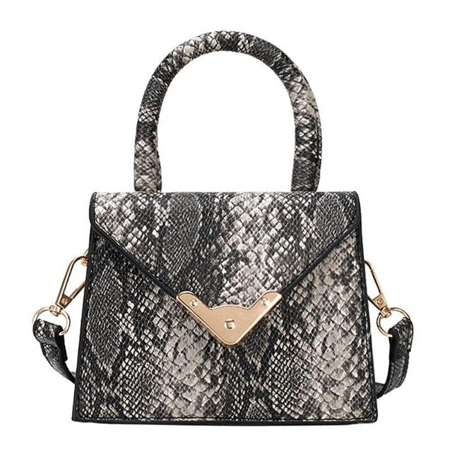 Snake PU Leather Shoulder Bag