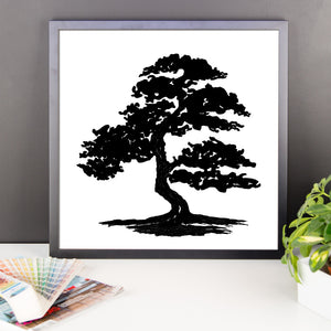 Formal Bonsai Wood Framed Print