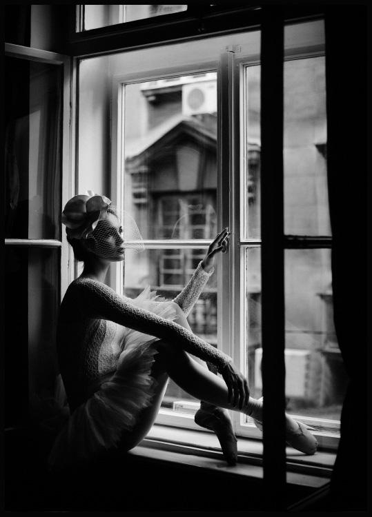 ballerina window poster
