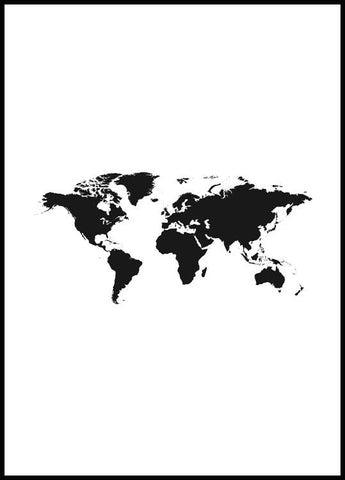 World Map Poster Poster