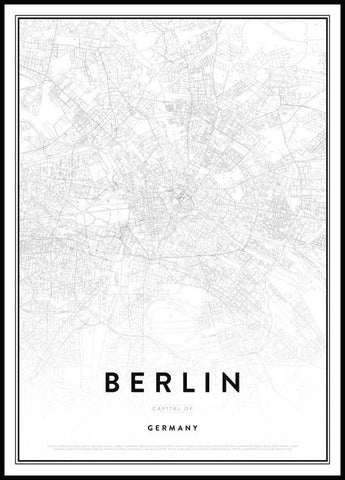 Map of Berlin Poster