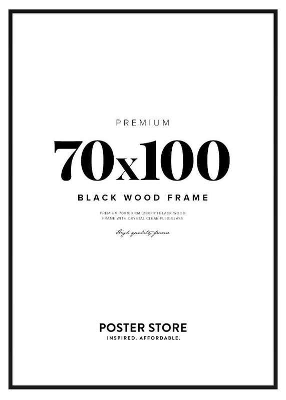 Black wood frame 70x100 cm - 28x39 in
