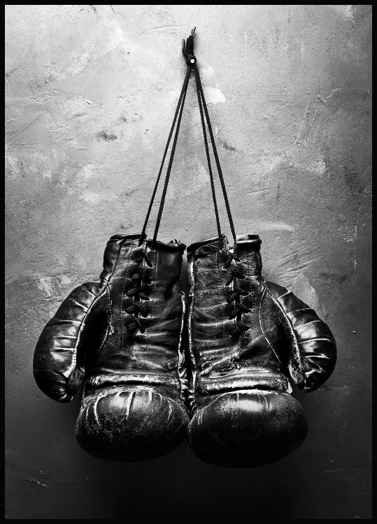 photo art, retro, boxing gloves poster