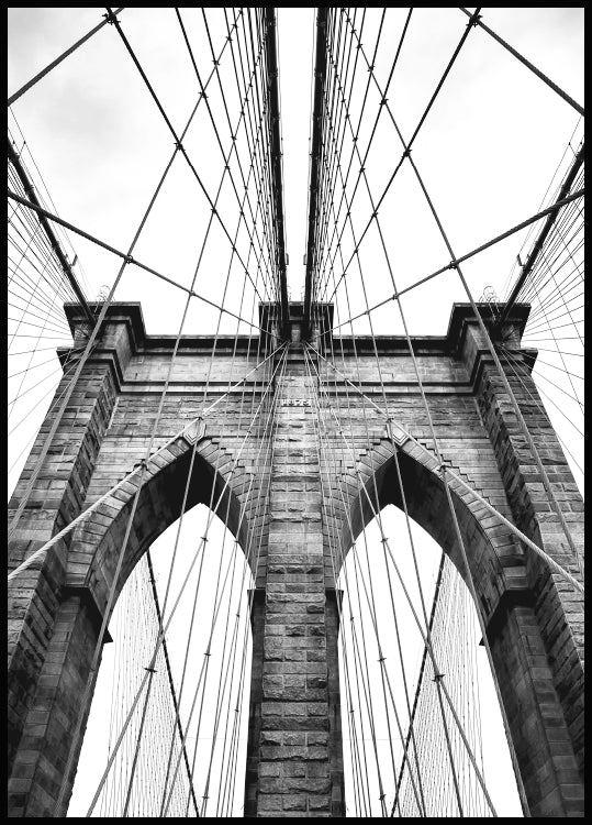 brooklyn bridge poster, new york