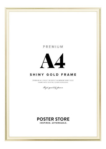 Gold frame A4 (21x29,7 cm - 8x12 in)