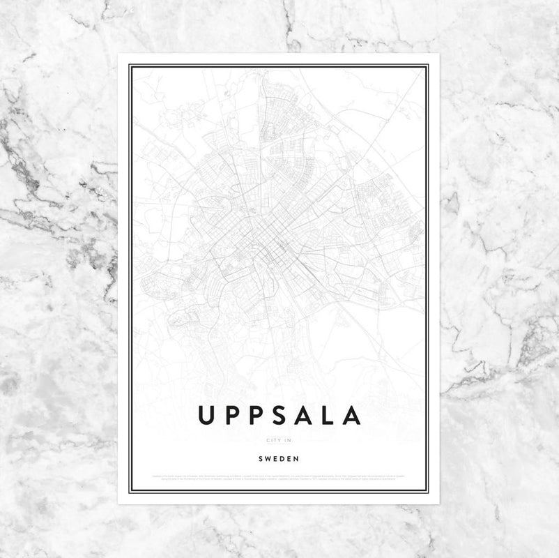 Map of Uppsala