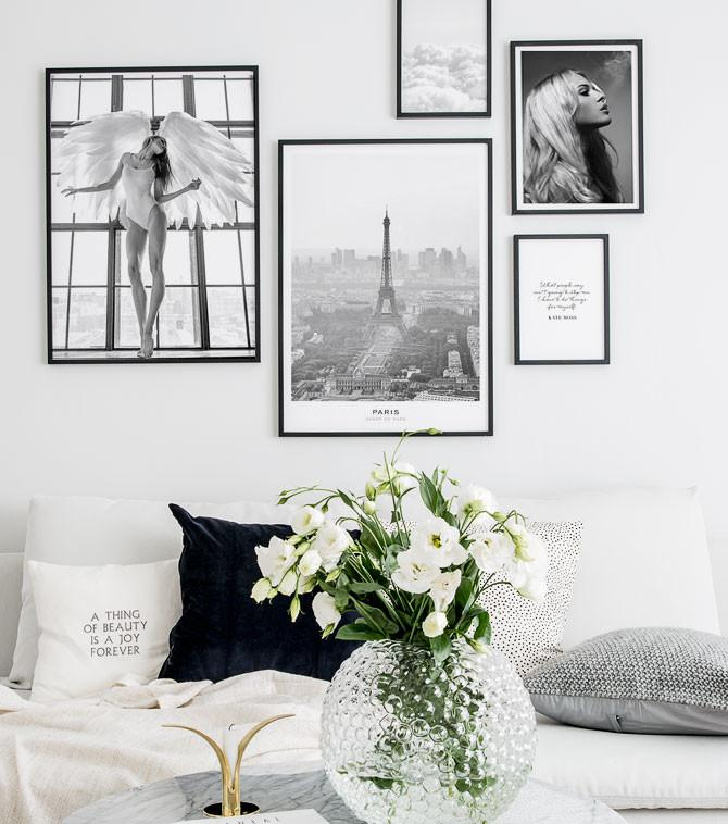Paris photo poster in gallery wall