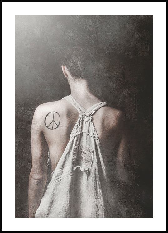 Tove frank peace poster, photo art,