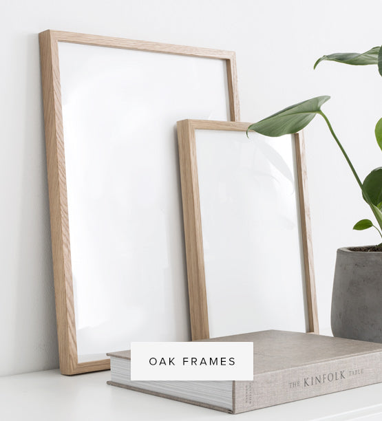 Oak frames to frame wall art