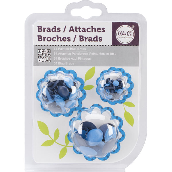 Painted Brads 54/Pkg-Blue