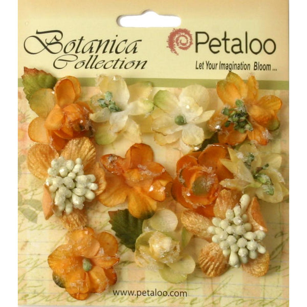 "Botanica Sugared Mini Blooms 1.25"" 11/Pkg-Gold/Sienna"