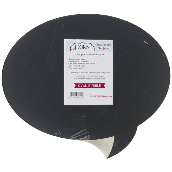 "Chalkboard Surfaces -Oval Bubble 12""X18"