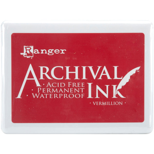 Archival Ink Jumbo Ink Pad #3-Vermillion