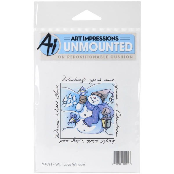 "Art Impressions Windows To The World Cling Stamp 4""X5.25""-With Love Window"
