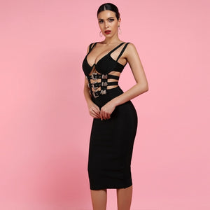 Buckle Up Bodycon Dress