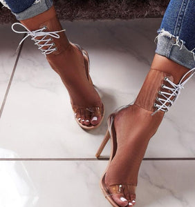 So Jelly Lace-Up Sandals