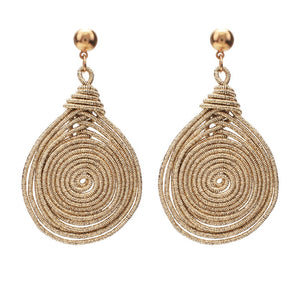 Bohemian Round Spiral Earrings