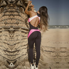 Candy Pink Backless Fitness Jumpsuit