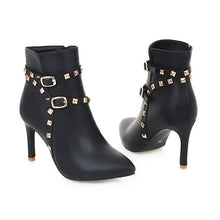 Women Buckle Ankle Boots