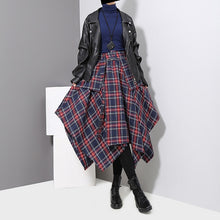 High Waist Plaid Layered Skirt
