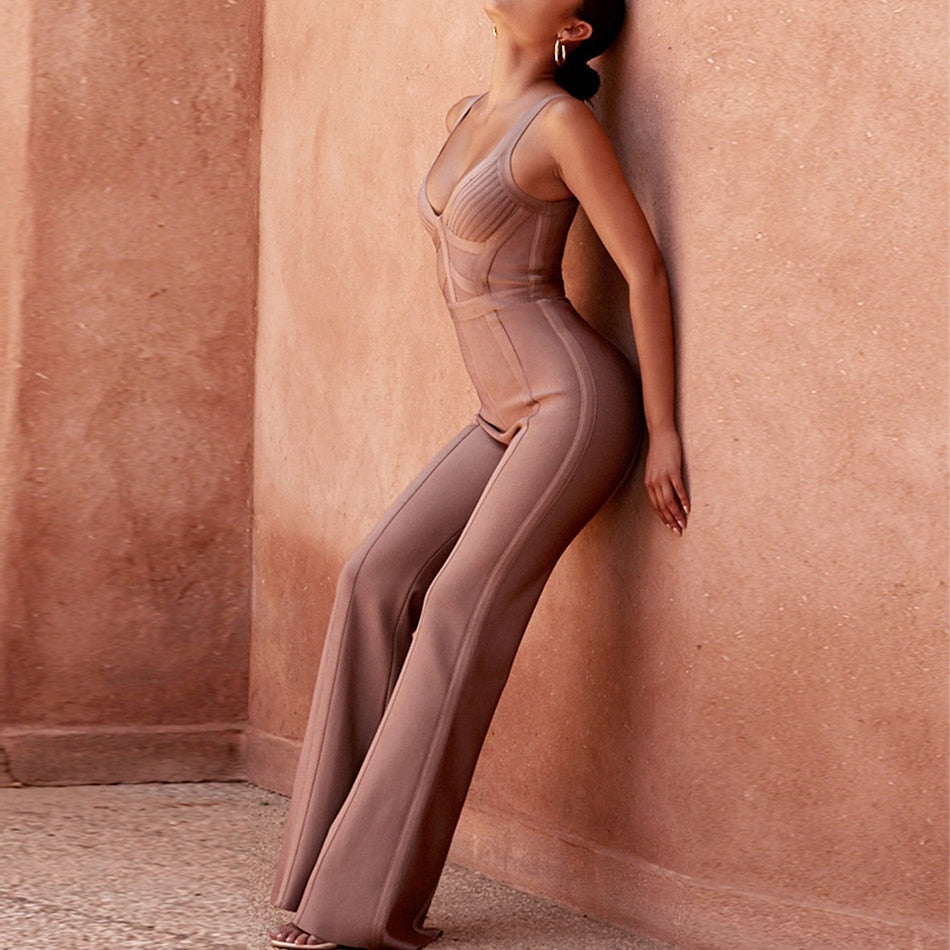 Sleeveless Bandage Jumpsuits
