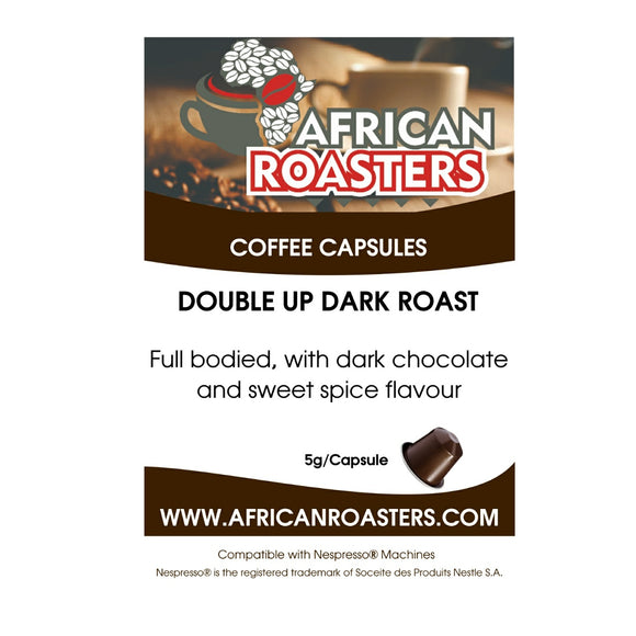 Coffee Capsules African Roasters Double Up Dark Roast (100) - Nespresso Compatible