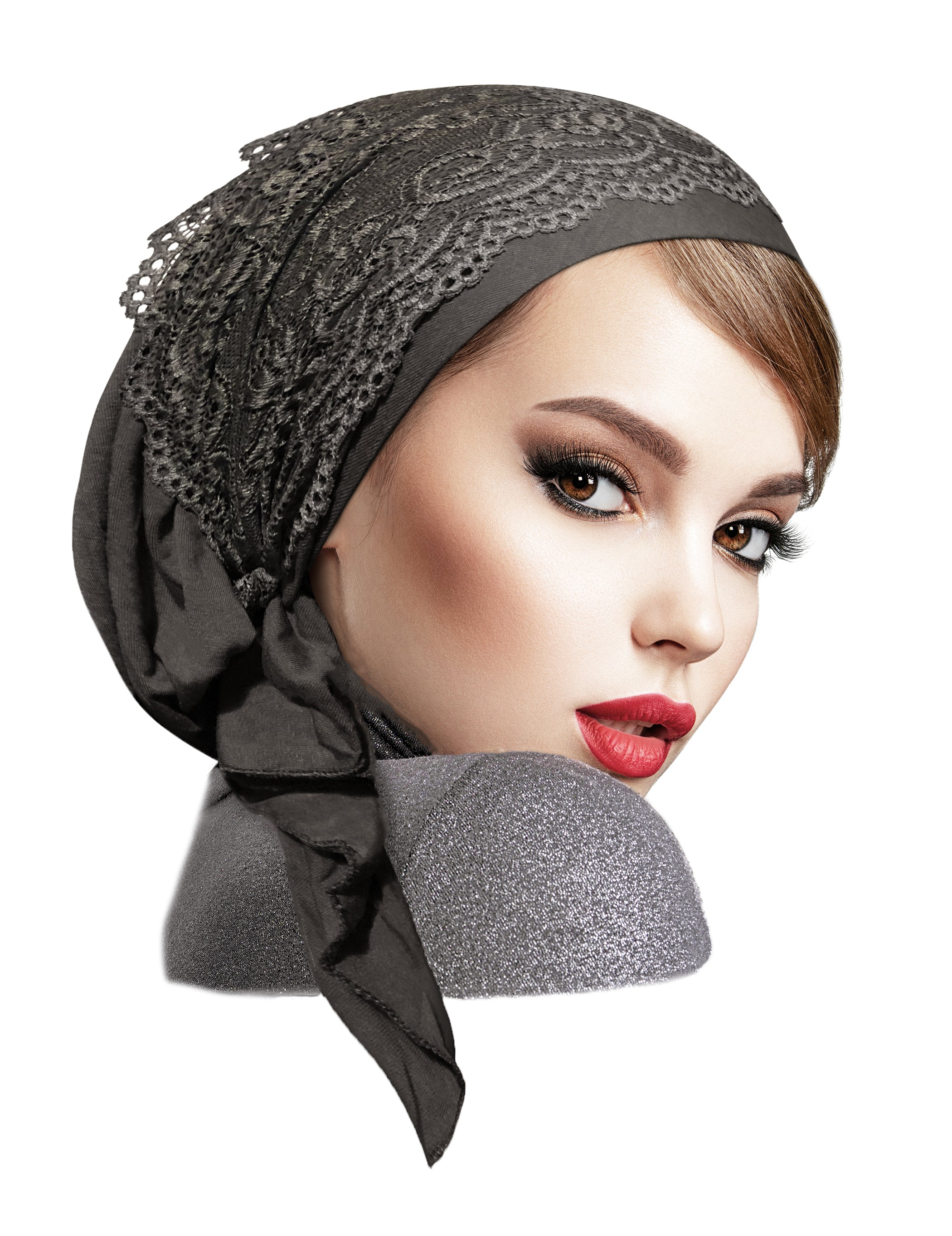 Headscarf with lace