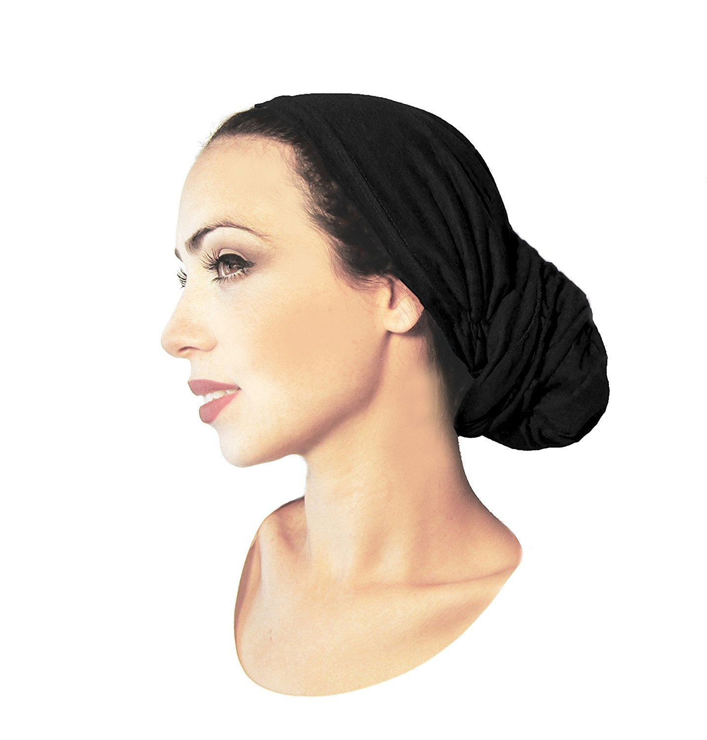 Create the perfect headscarf bun! (small black)