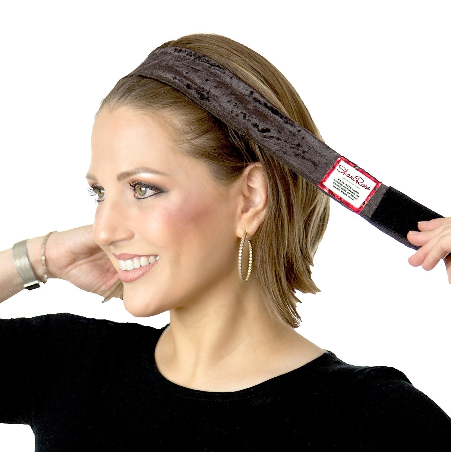 Brown velour non slip headband for wig & headscarf!