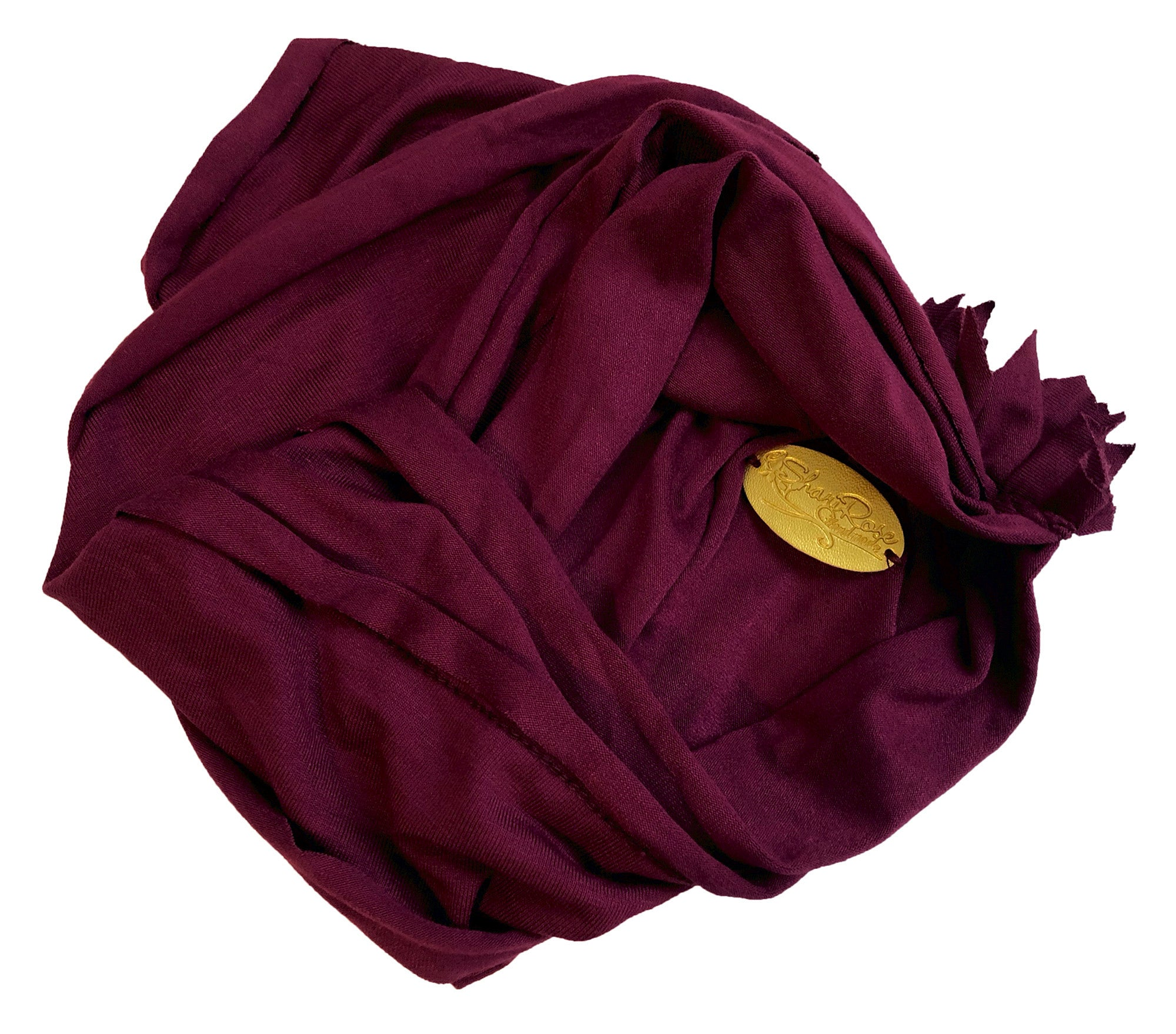 Soft cotton headband chunky wide in burgundy