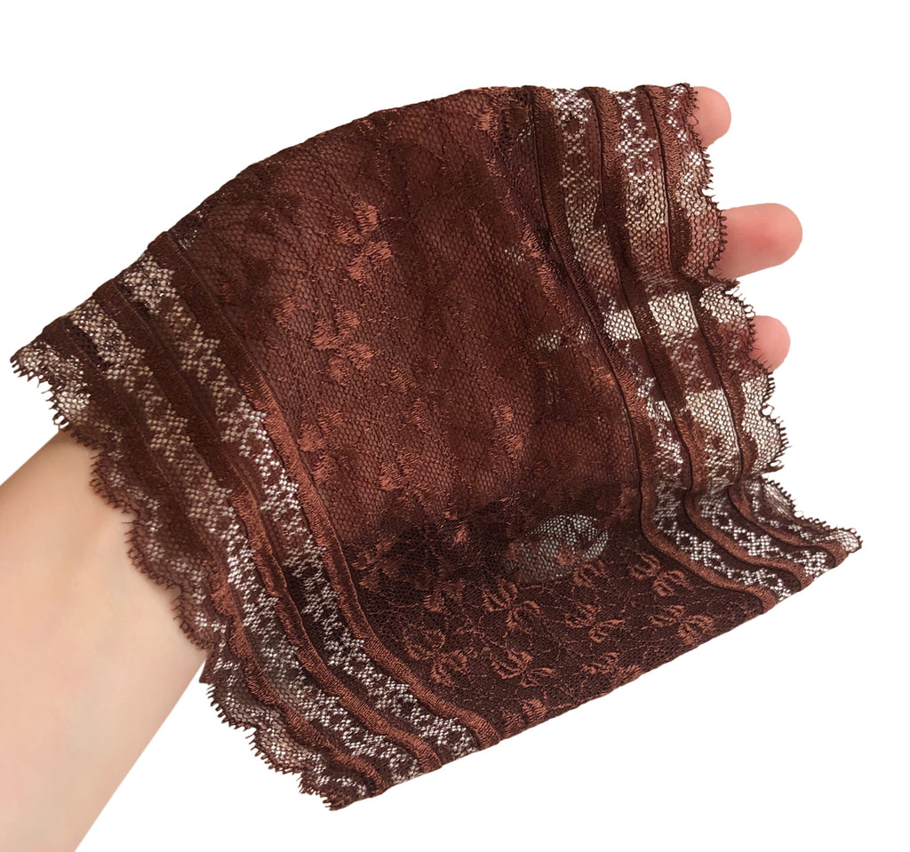 Brown vintage lace boho chic headband