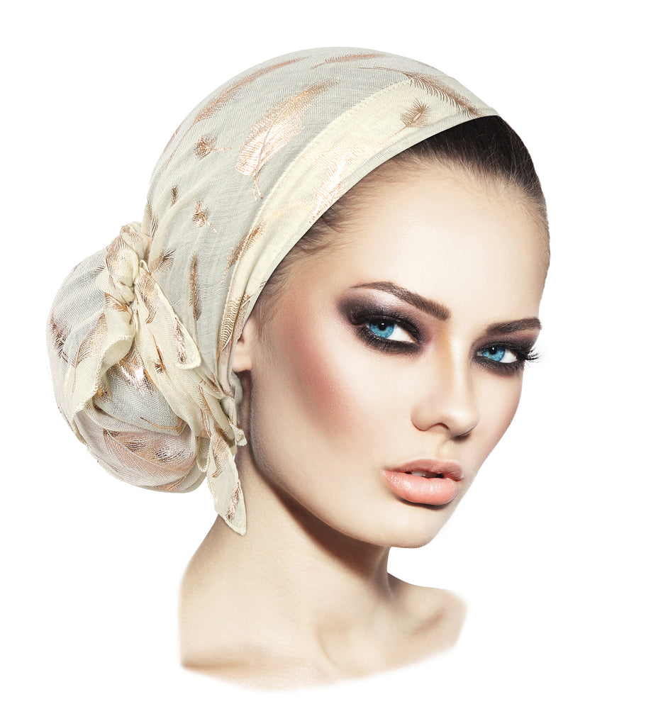 The perfect headscarf bun in seconds! (Small white)